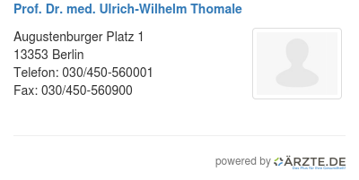 Prof dr med ulrich wilhelm thomale