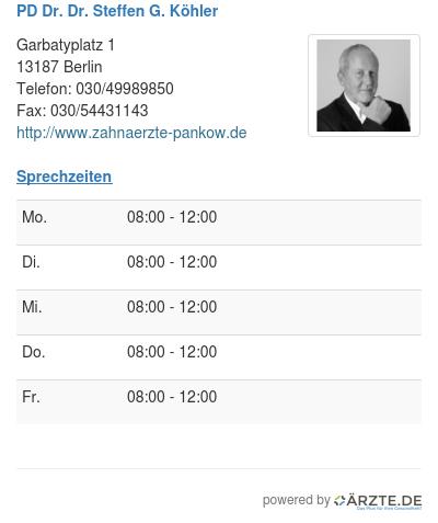 Pd dr dr steffen g koehler