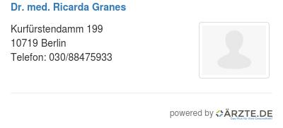 Dr med ricarda granes 580124