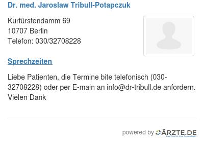 Dr med jaroslaw tribull potapczuk