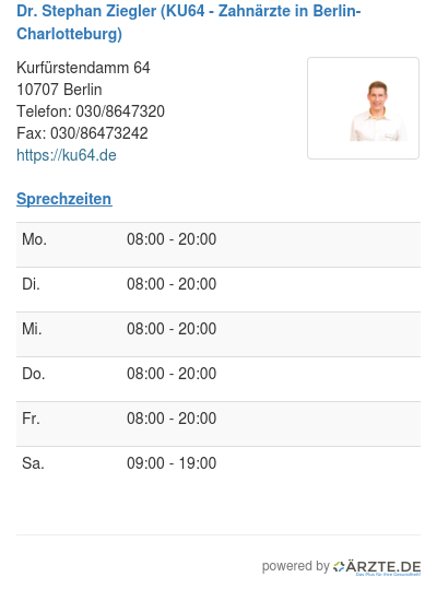 Dr stephan ziegler ku64 zahnaerzte in berlin charlotteburg