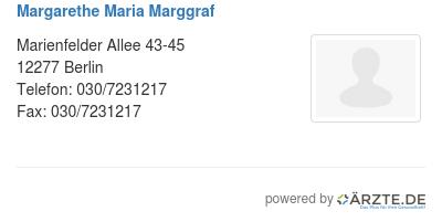 Margarethe maria marggraf