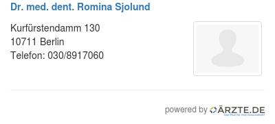 Dr med dent romina sjolund