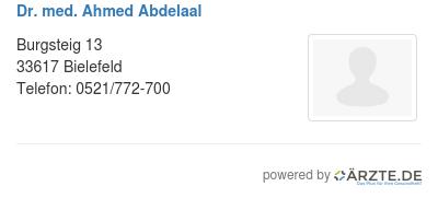 Dr med ahmed abdelaal