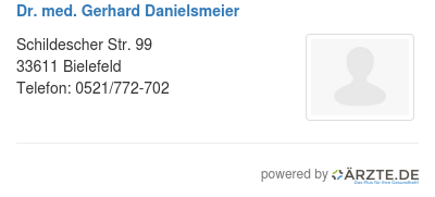 Dr med gerhard danielsmeier