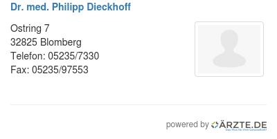 Dr med philipp dieckhoff