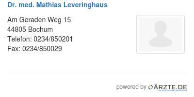 Dr med mathias leveringhaus