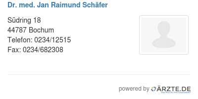 Dr med jan raimund schaefer
