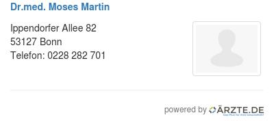 Dr med moses martin