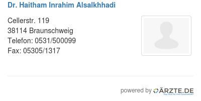 Dr haitham inrahim alsalkhhadi