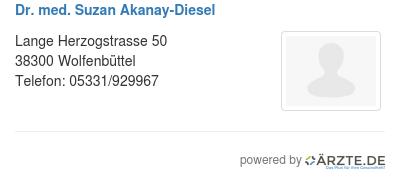 Dr med suzan akanay diesel