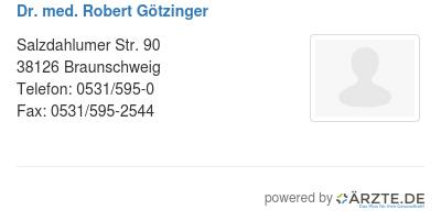 Dr med robert goetzinger