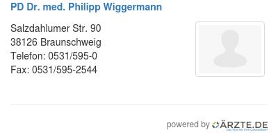 Pd dr med philipp wiggermann