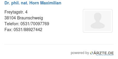 Dr phil nat horn maximilian