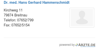 Dr med hans gerhard hammerschmidt