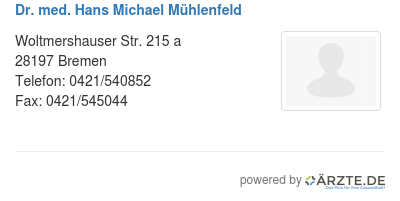 Dr med hans michael muehlenfeld