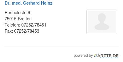 Dr med gerhard heinz