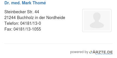 Dr med mark thome