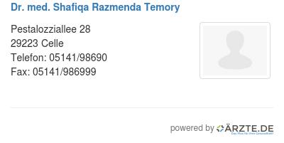 Dr med shafiqa razmenda temory 529372