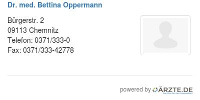 Dr med bettina oppermann