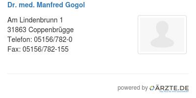 Dr med manfred gogol