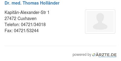 Dr med thomas hollaender