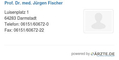 Prof dr med juergen fischer 534588