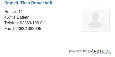 Dr Med Theo Brauckhoff In 45711 Datteln Fa Fur Nuklearmedizin