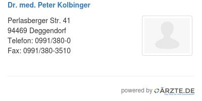 Dr med peter kolbinger 580926
