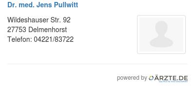 Dr med jens pullwitt 578783