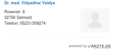 Dr med vidyadhar vaidya
