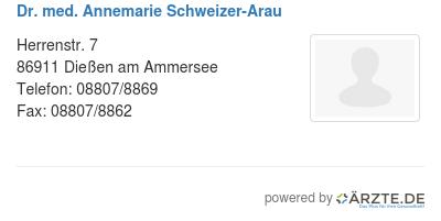 Dr med annemarie schweizer arau