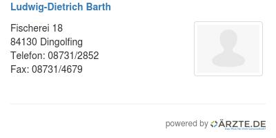 Ludwig dietrich barth
