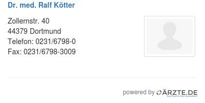 Dr med ralf koetter 578815