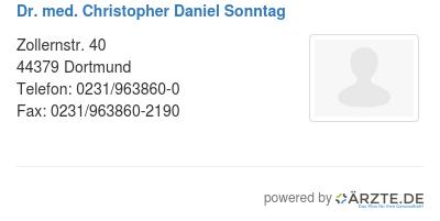 Dr med christopher daniel sonntag 579705