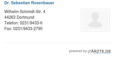 Dr sebastian rosenbauer