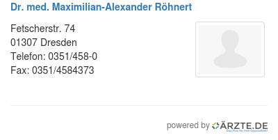 Dr med maximilian alexander roehnert