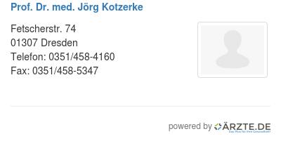 Prof dr med joerg kotzerke