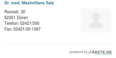 Dr med maximiliane salz