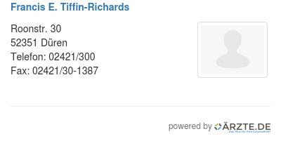 Francis e tiffin richards