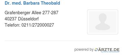 Dr med barbara theobald