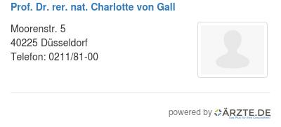 Prof dr rer nat charlotte von gall