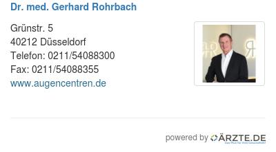 Dr med gerhard rohrbach 588032