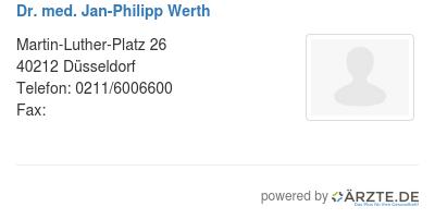 Dr med jan philipp werth