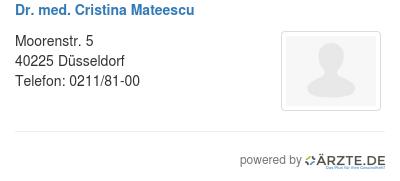 Dr med cristina mateescu