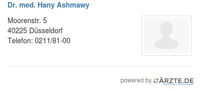 Dr med hany ashmawy
