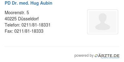 Pd dr med hug aubin