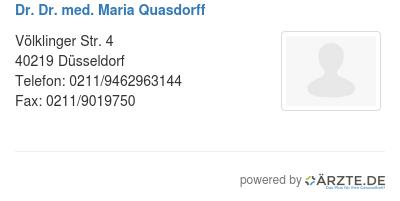 Dr dr med maria quasdorff