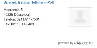 Dr med bettina hoffmann poell