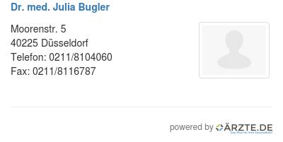 Dr med julia bugler 580520